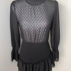 Black ruffle dress, SZ small NWT